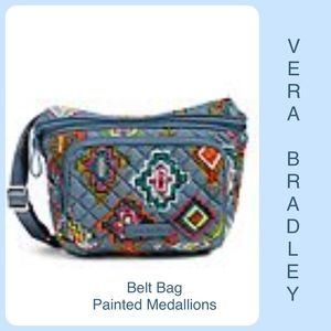 Handbags - Vera Bradley Belt Bag Crossbody Blue Medallion NWT